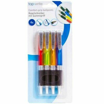 Topwrite 4 Kugelschreiber mit Komfortgriff