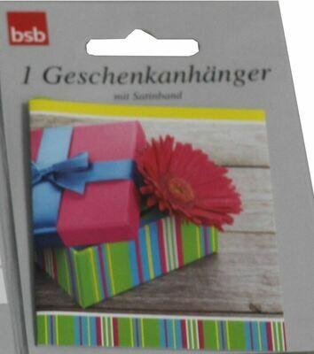 bsb Geschenkanhänger 1er