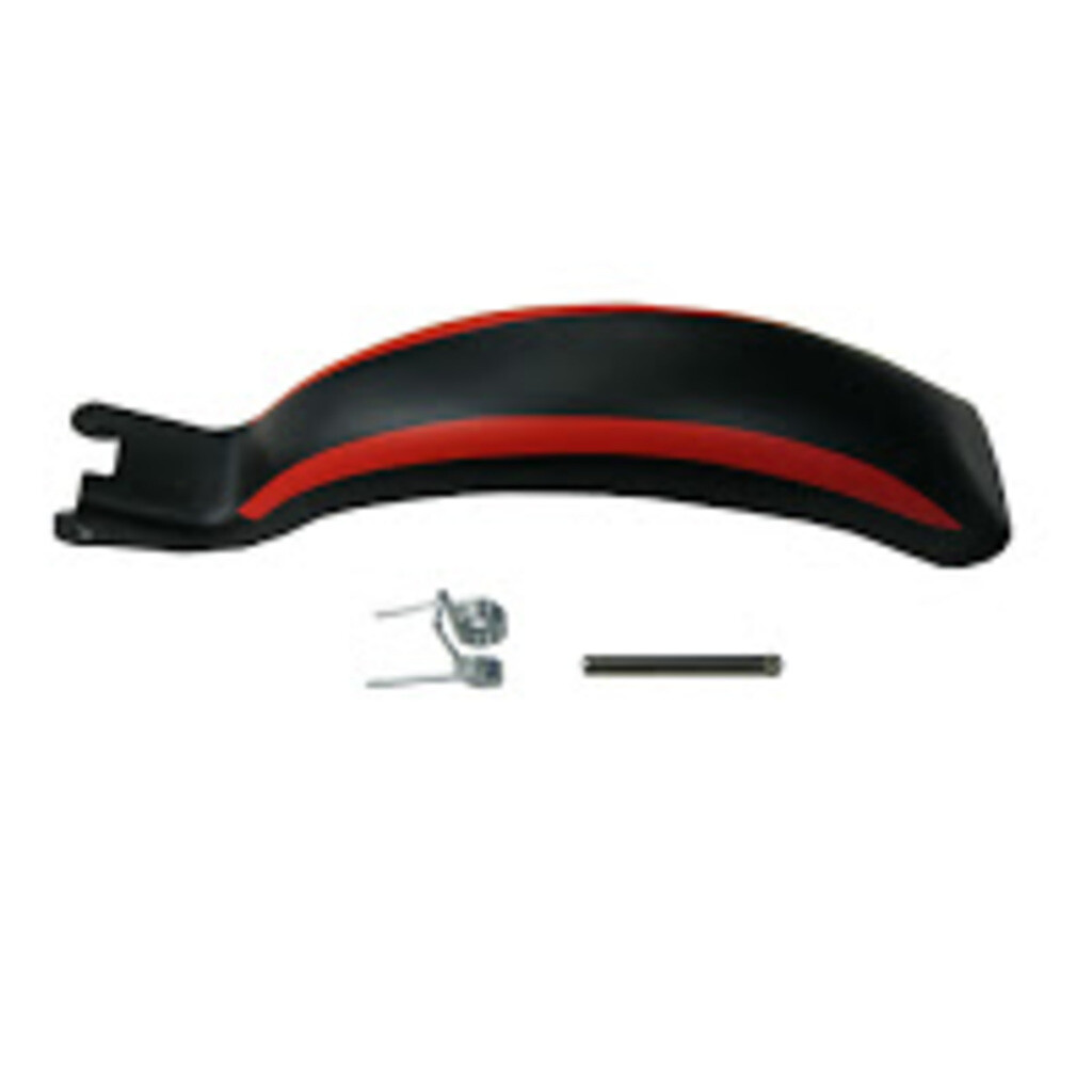 Hudora ET 1 Bremsblech inkl. Feder und Bolzen, schwarz/rot (EOL)