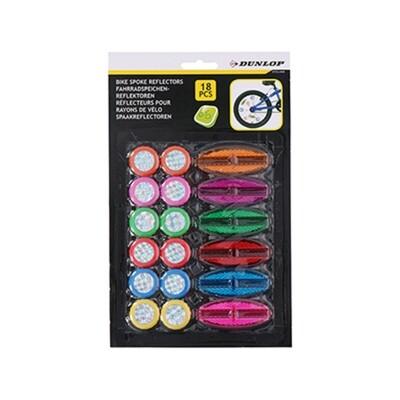 Dunlop Fahrradspeichenreflektoren 18tlg.