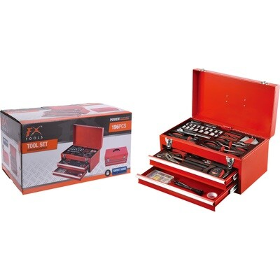 FX Tools Metallwerkzeugkasten Set 196tlg.