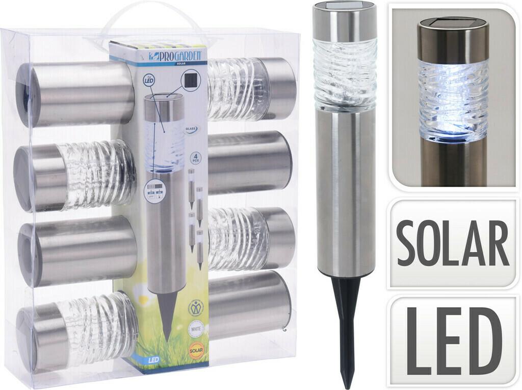 Pro Garden LED Solarlampe, 4er Set