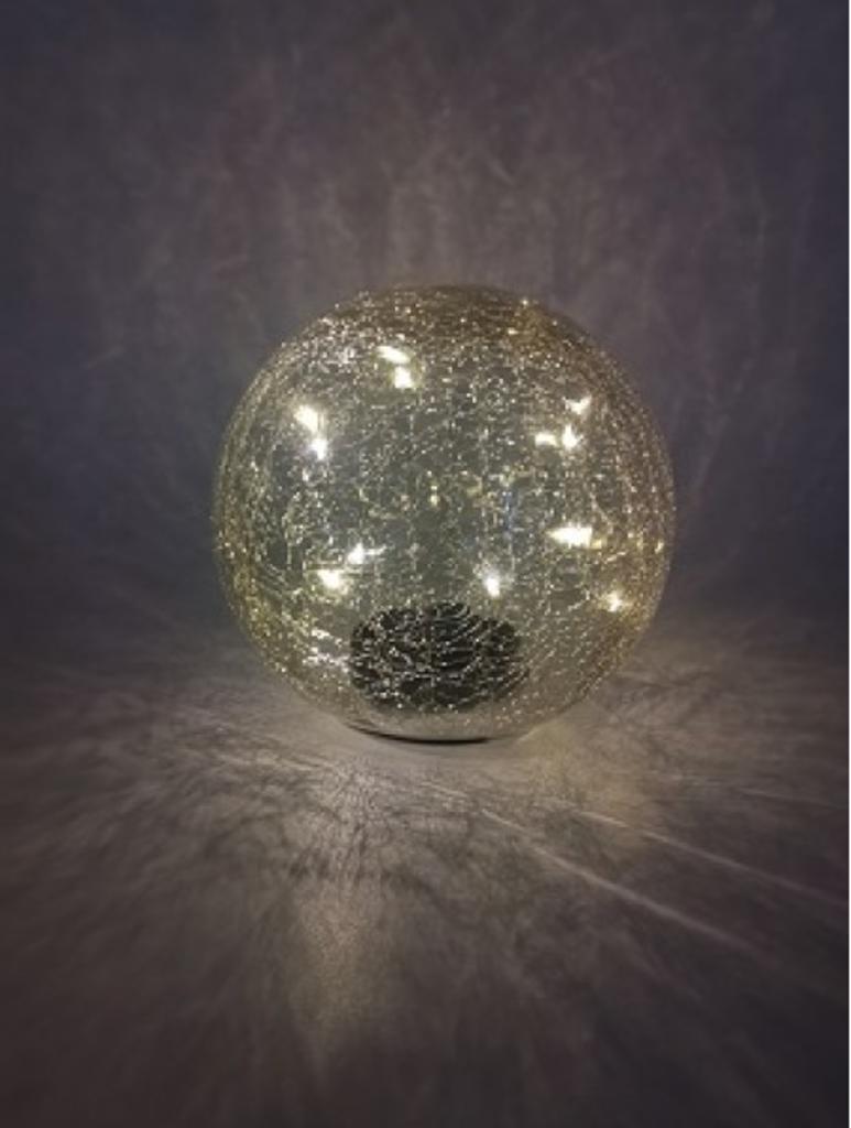 Kynast Solarkugel Crackle-Glas 15 cm