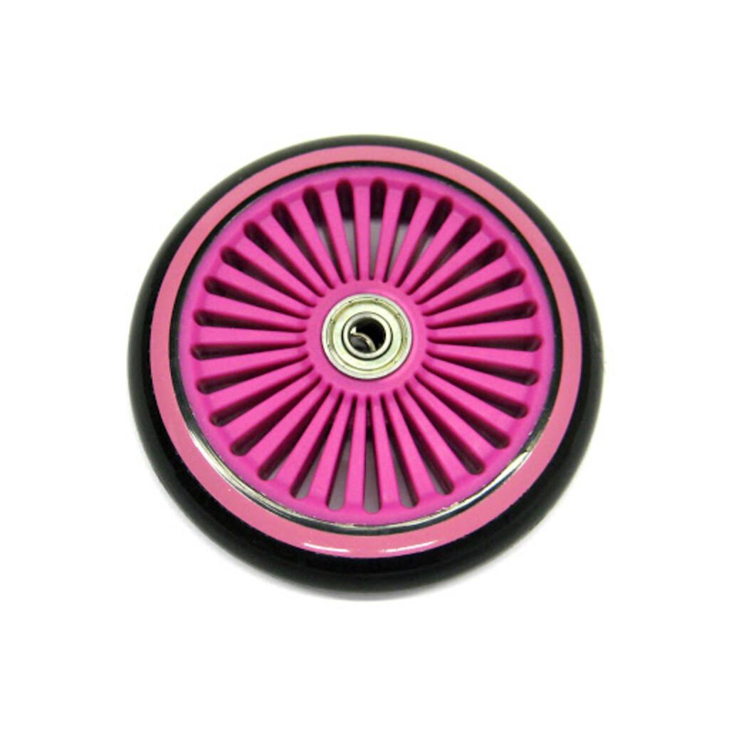 Hudora ET 1 Ersatzrad vorne, schwarz/pink 120 mm inkl. Kugellager (EOL)