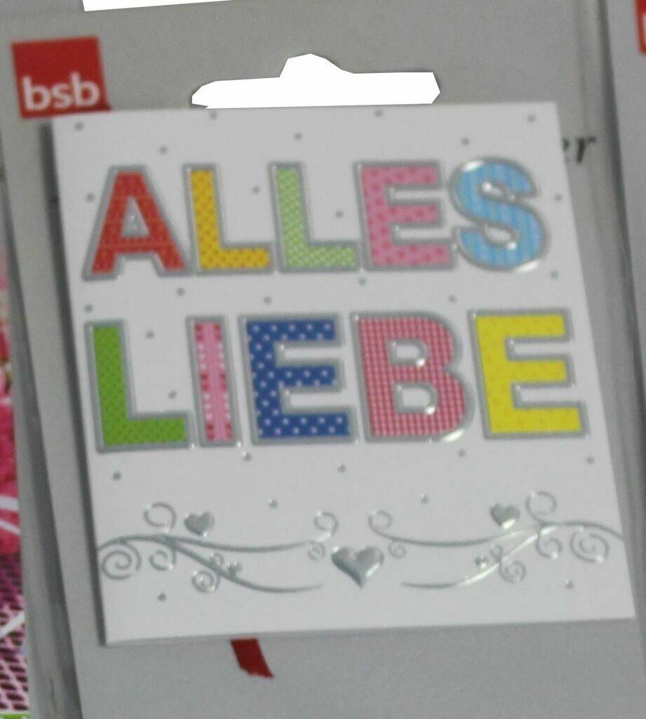 """bsb Geschenkanhänger 1er """"Alles Liebe"""""""