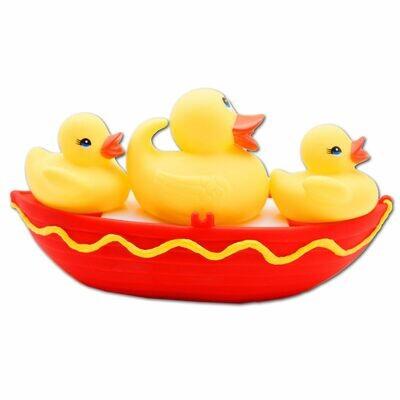 Eddy Toys Boot & 3 Enten für Badewanne