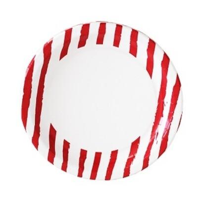 Duni Teller Red Stripe 10er Pack