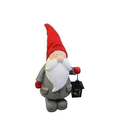 CHAMP Weihnachtsmann mit roter Mütze und Laterne