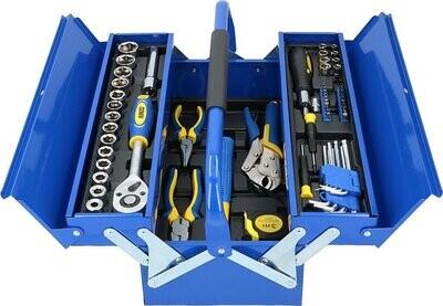 Kinzo Handwerkzeug Set mit Metallbox, 64-teilig