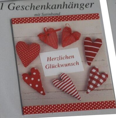 "bsb Geschenkanhänger 1er ""Herzen"""