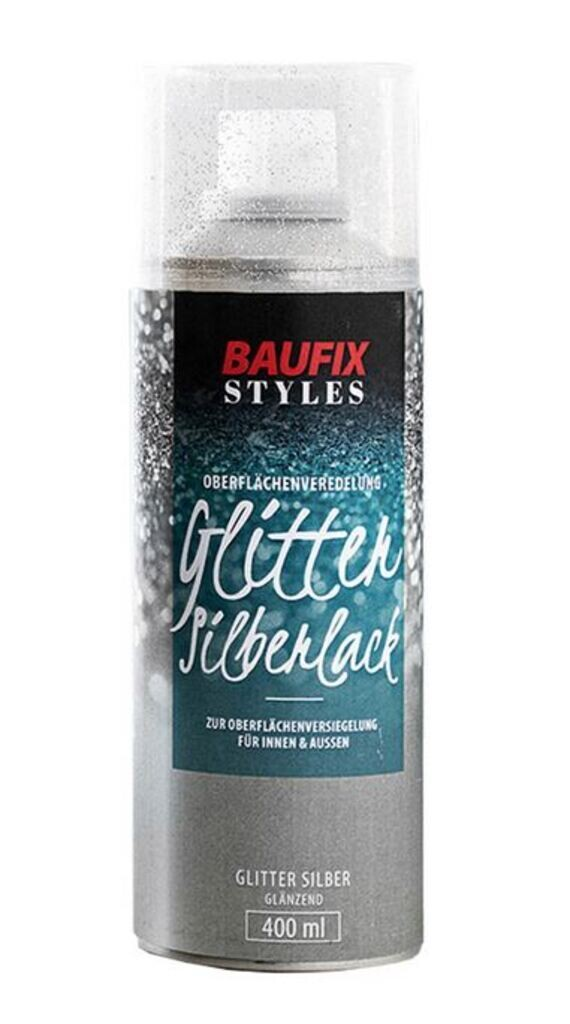 Baufix Glitter Silberlack
