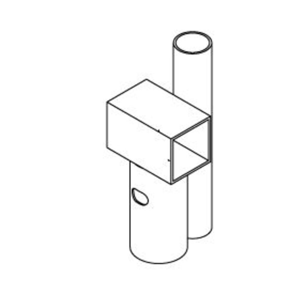 Hudora ET 1 Rahmenverbinder mit Fangnetzstangen-Aufsatz