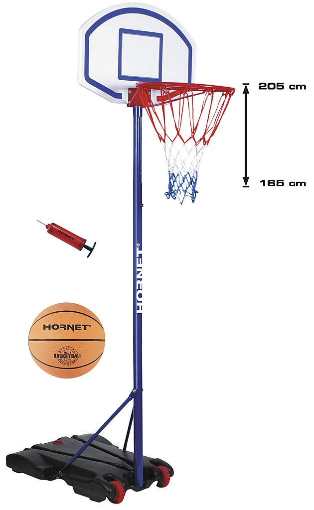 Hudora Hornet Basketballständer 205 mit Ball und Pumpe