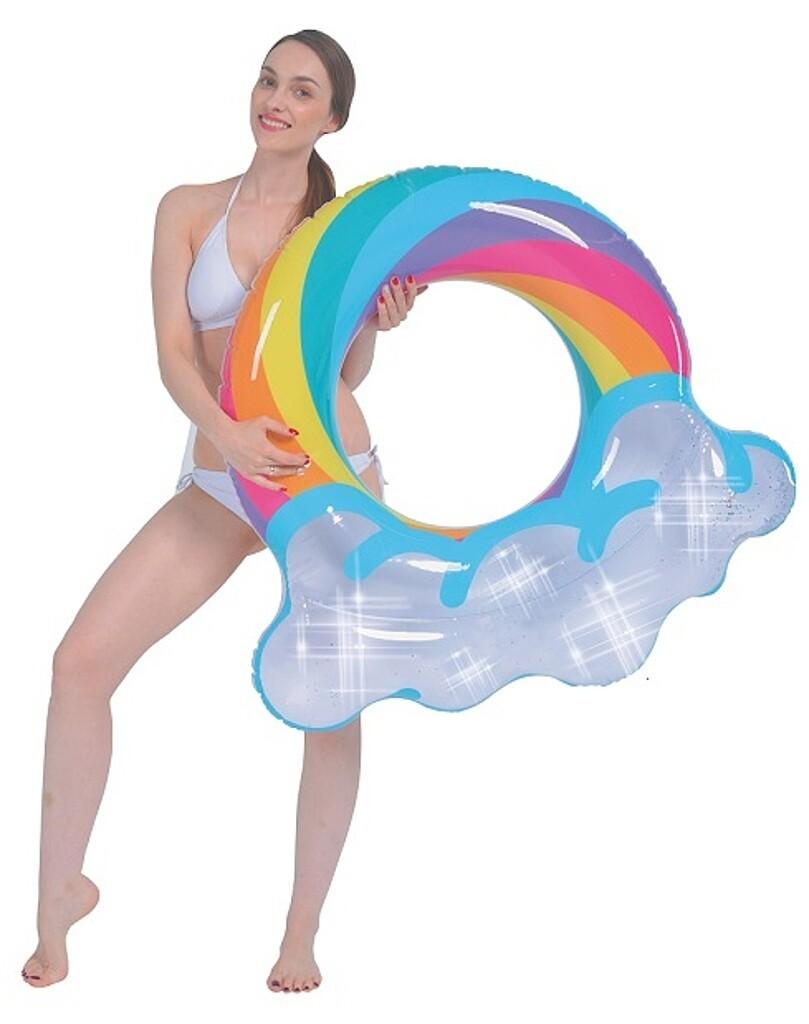 Jilong Schwimmring Glitzer Regenbogen