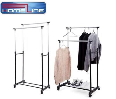 Homeline Doppel-Kleiderständer verstellbar