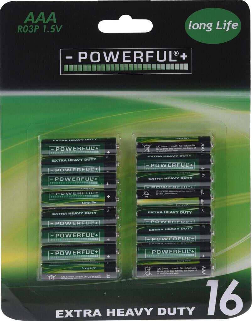 -POWERFUL+ Batterien 16 Stk.