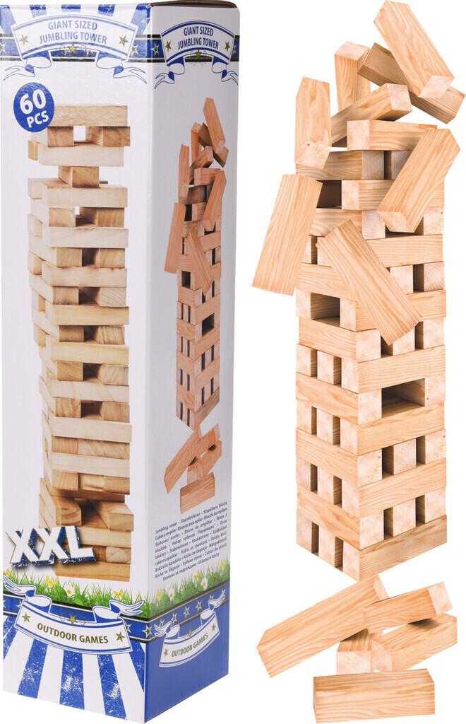 CHAMP Turm Stapelspiel aus Holz 60 teilig