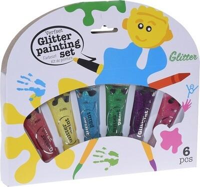 Free and Easy Glitzer-Fingerfarben 6tlg.
