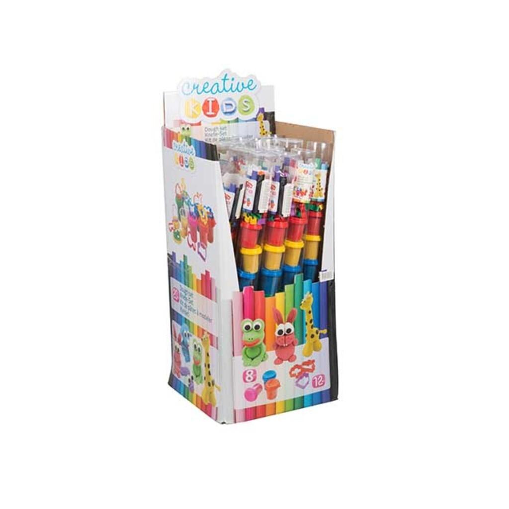 Creative kids Knetset à 8 Stk. + 12 Ausstecher