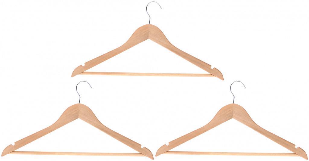 CHAMP Kleiderbügel - Set aus Holz 3 Stk.