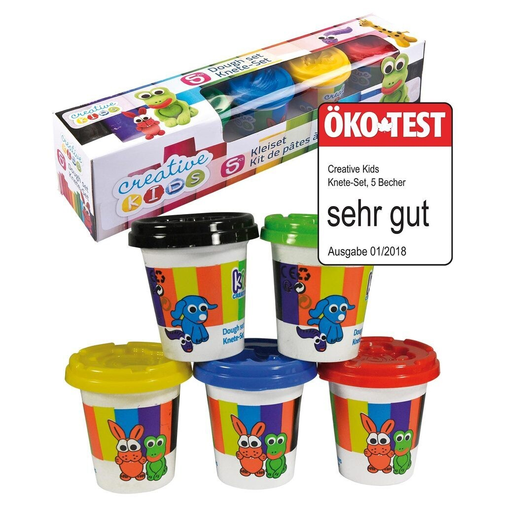 Creative kids Knete-Set 5x140gr
