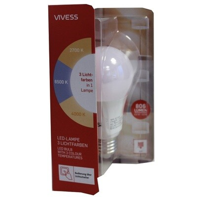 VIVESS LED-Lampe in 3 Lichtfarben