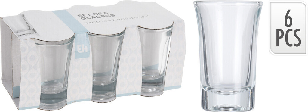 Excellent Houseware Schnapsglas 6-er Set