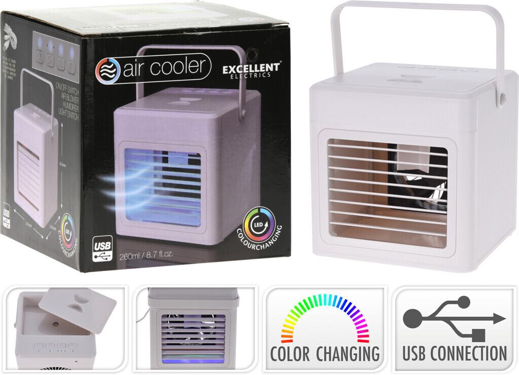 Excellent Electrics Luftkühler mit Griff und LED-Beleuchtung