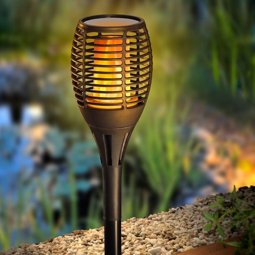 Grundig Solarlampe LED-Flammeneffekt