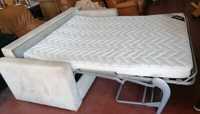 Canapé beige tissu convertible