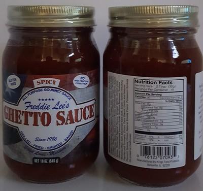 Freddie Lee's Ghetto Sauce Spicy Pint 18oz