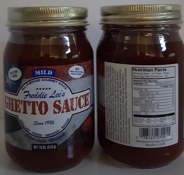 Freddie Lee's Ghetto Sauce Mild Pint 18oz