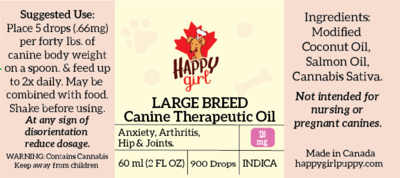 Large Breed Canine Oil