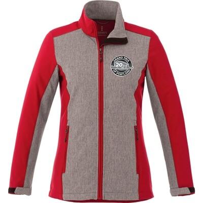 Portland Ladies Jacket-Grey/Red