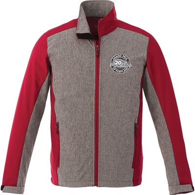 Portland Jacket-Grey/Red