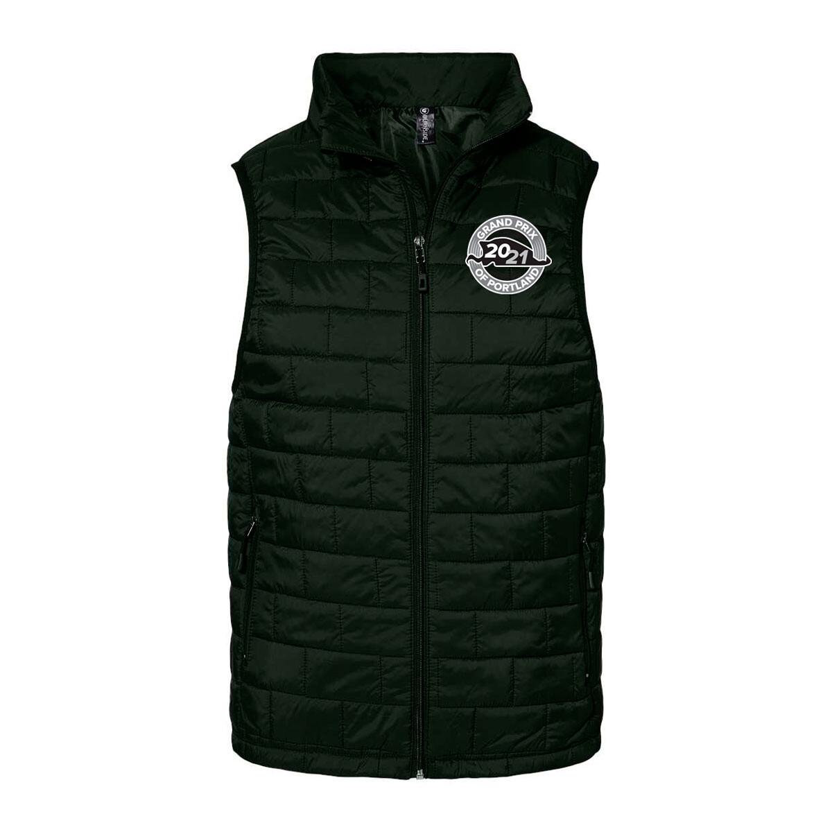 Grand Prix of Portland Puff Vest-Black