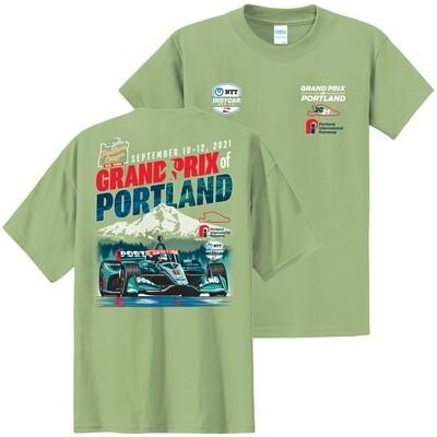 PG Portland Poster T -Lt. Green