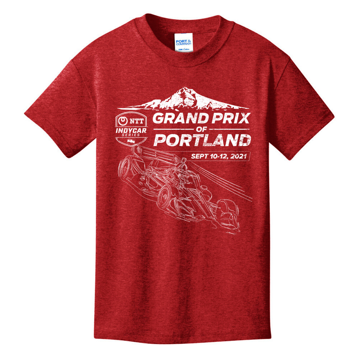 Grand Prix of Portland Youth Tee-Red