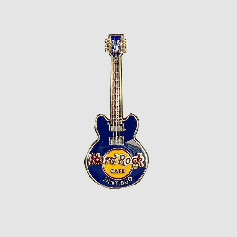 3D Guitar Blue Pin