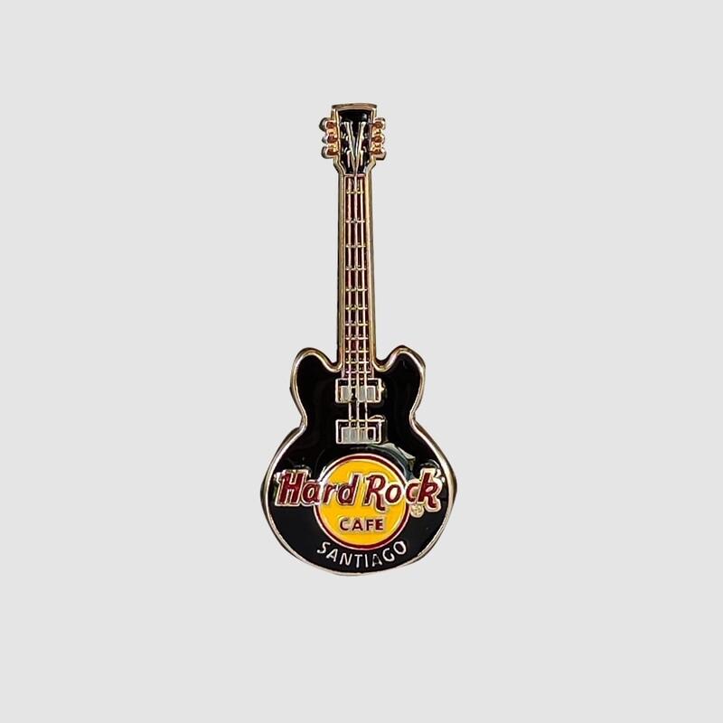 3D Guitar Black Pin