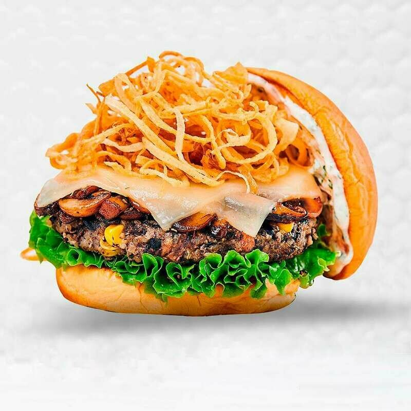 Mushroom & Gouda Veggie Burger