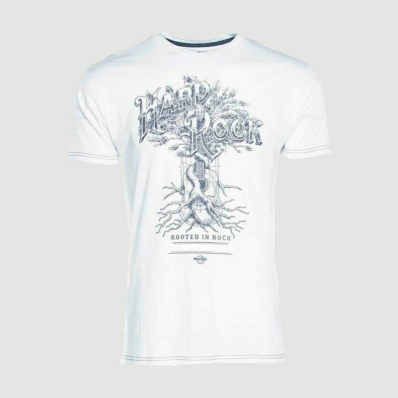 Mens Rooted In Rock V-Neck Tee