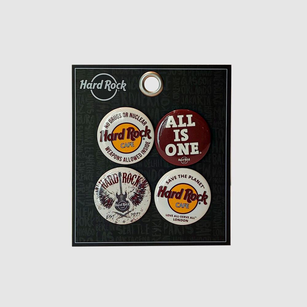Hard Rock Café Button Set