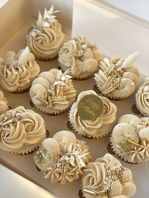 Box of 12 luxe cupcakes
