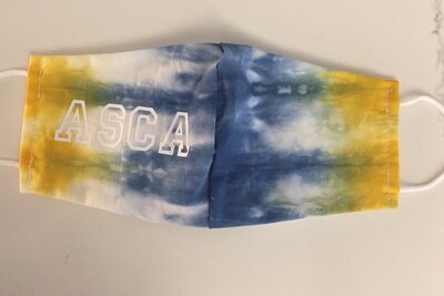 Tie Dye BLUE AND YELLOW ASCA Mask