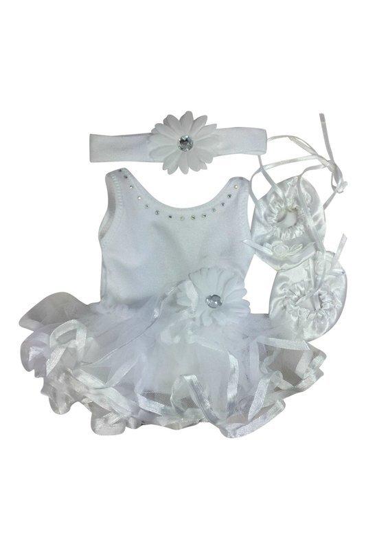 Baton Strut/Dance White Daisy Costume Set