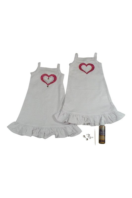 Doll Craft Nightgown with Heart to Decorate with Stones