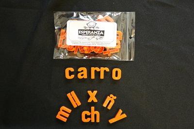 Esperanza Plastic Letters (LOWERCASE LETTERS)