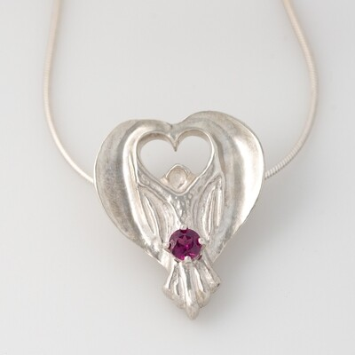 2020 Ophelia Gemstone Angel with a Rhodolite Garnet