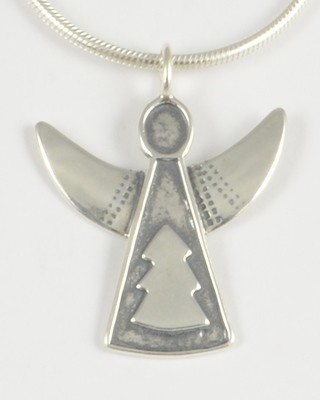 Julia 1995 Silver Angel Pendant